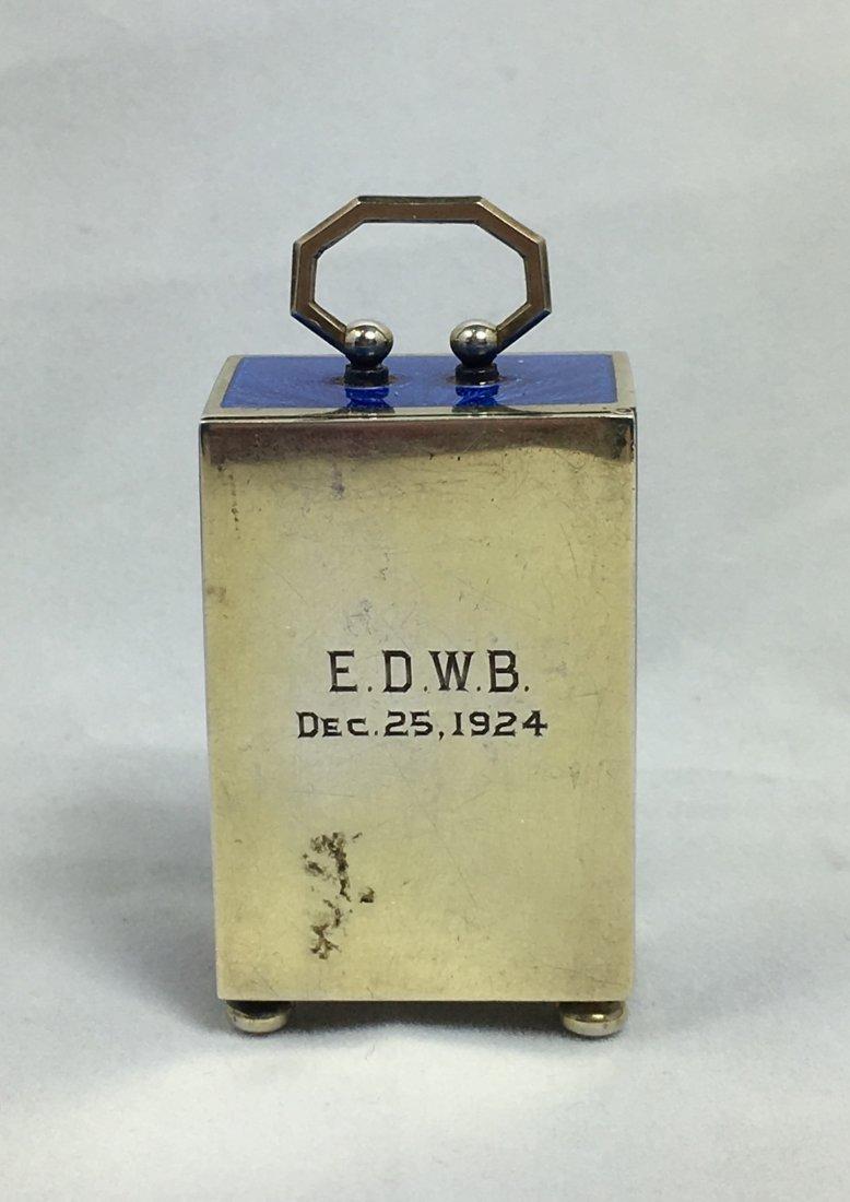 Rare E. Gubelin Lucerne Silver Clock - 5