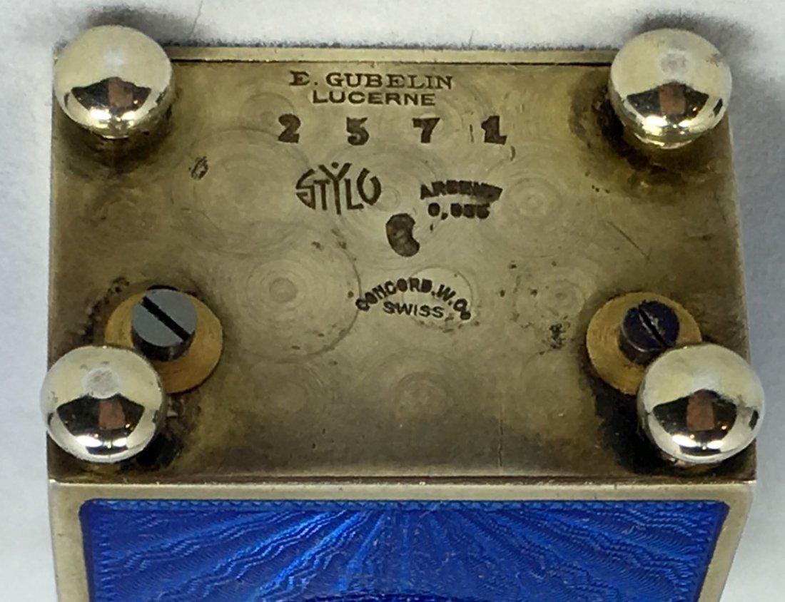 Rare E. Gubelin Lucerne Silver Clock - 6