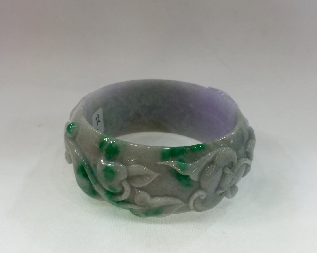 Natural Untreated Jadeite Jade Bangle - 2