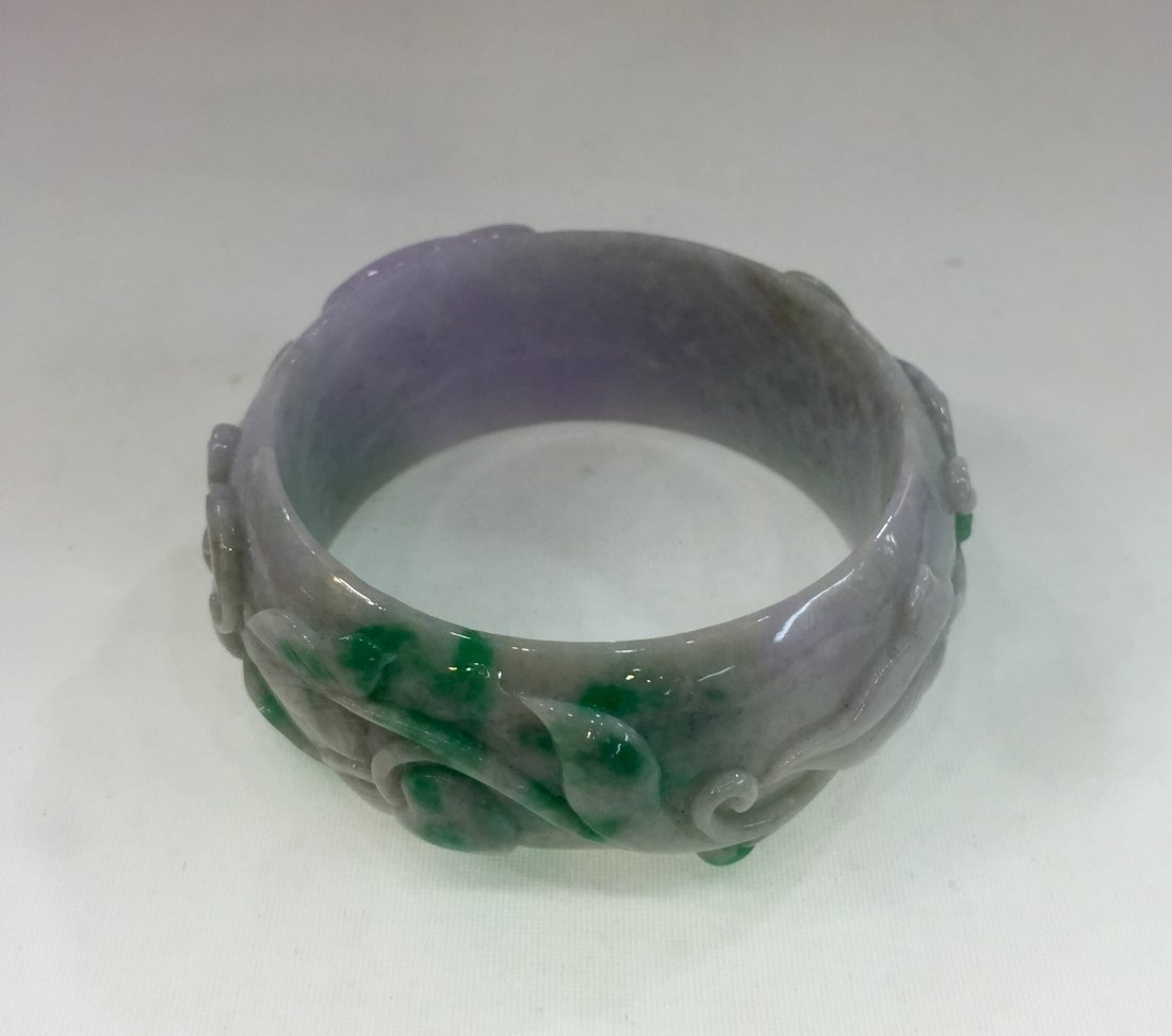 Natural Untreated Jadeite Jade Bangle - 3