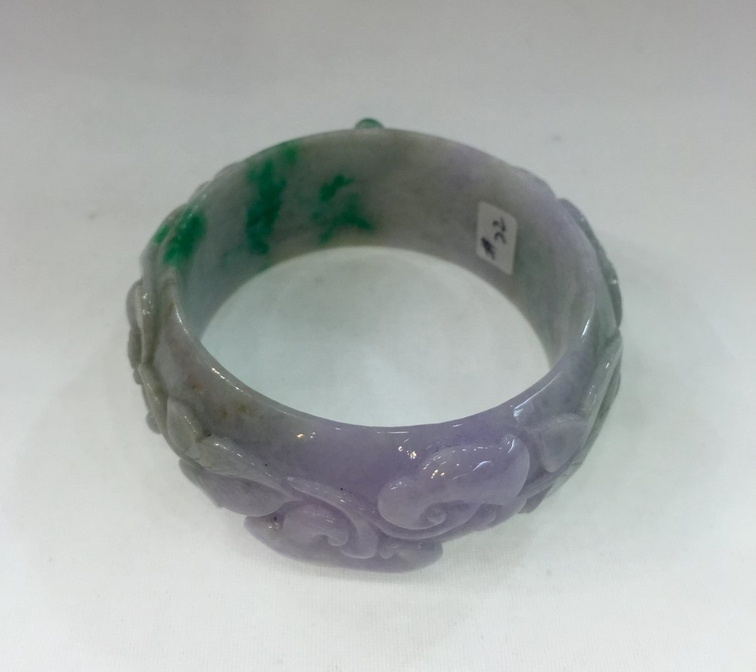 Natural Untreated Jadeite Jade Bangle - 4