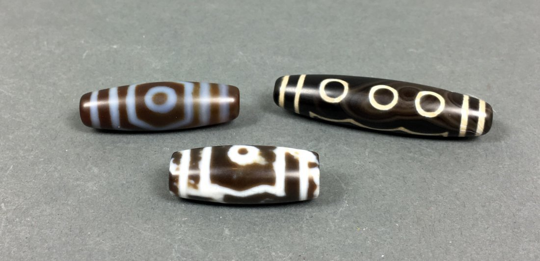 Three Of Agate beads
