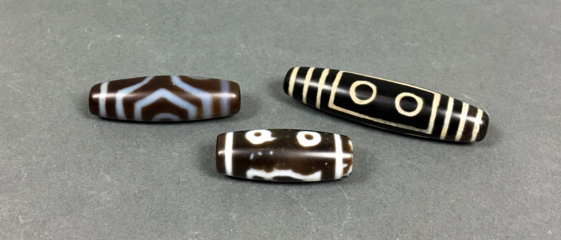 Three Of Agate beads - 2