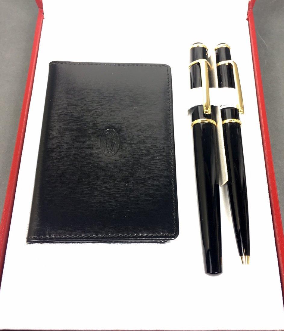 A Pair Of Cartier Pen With Original Box - 2