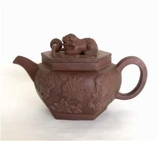 A Chinese Yixin Zisha Tea Pot 19/20th C