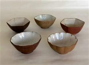 Five Of Chinese Zisha Tea Pots 19th C