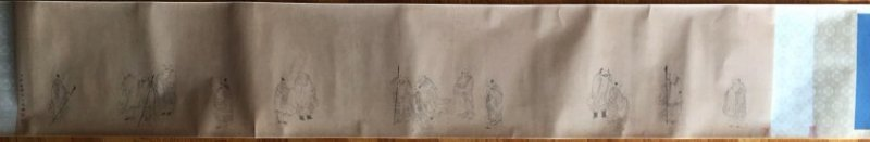 Chinese Long Scroll Painting Signed By JinTingBiao