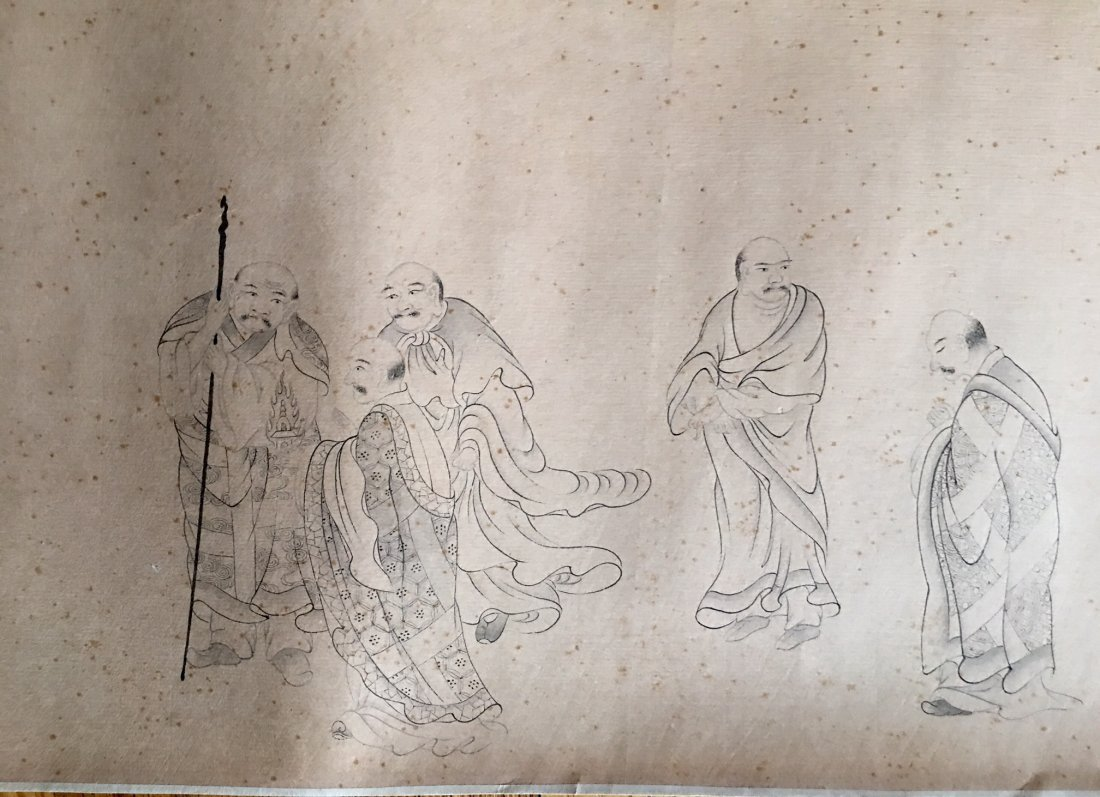 Chinese Long Scroll Painting Signed By JinTingBiao - 6