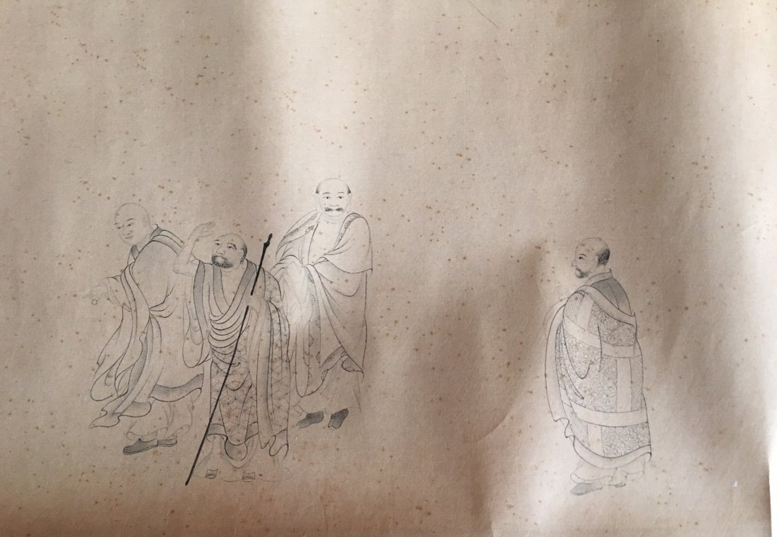 Chinese Long Scroll Painting Signed By JinTingBiao - 7