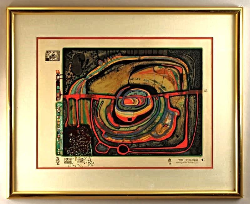 Friedensreich Hundertwasser Serigraph