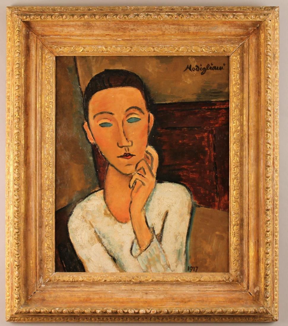 Amadeo Modigliani Oil on Board Portrait