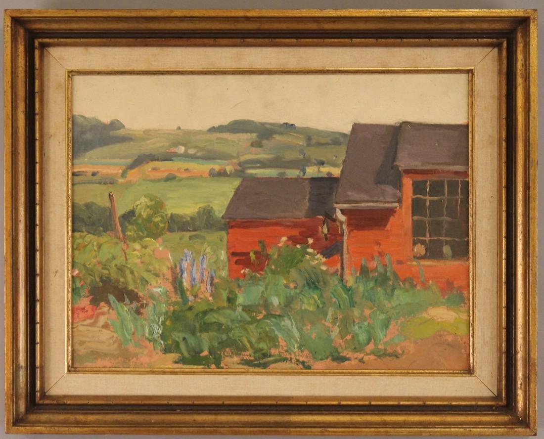 George Davidson 1889-1965 O/C Red Barn #126