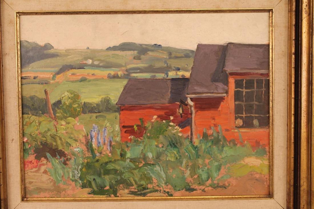 George Davidson 1889-1965 O/C Red Barn #126 - 2
