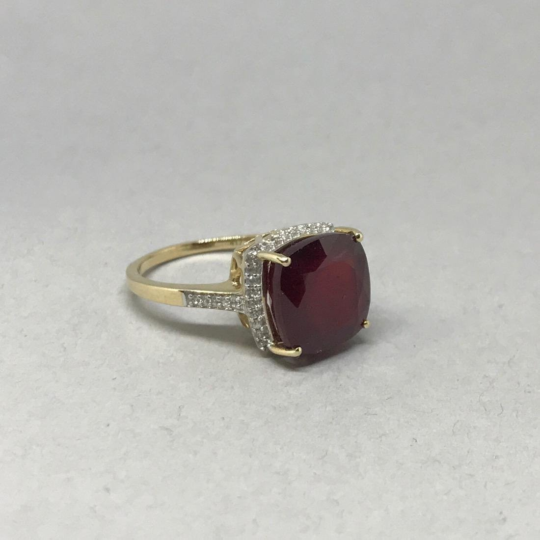 10K Gold Ring with Large