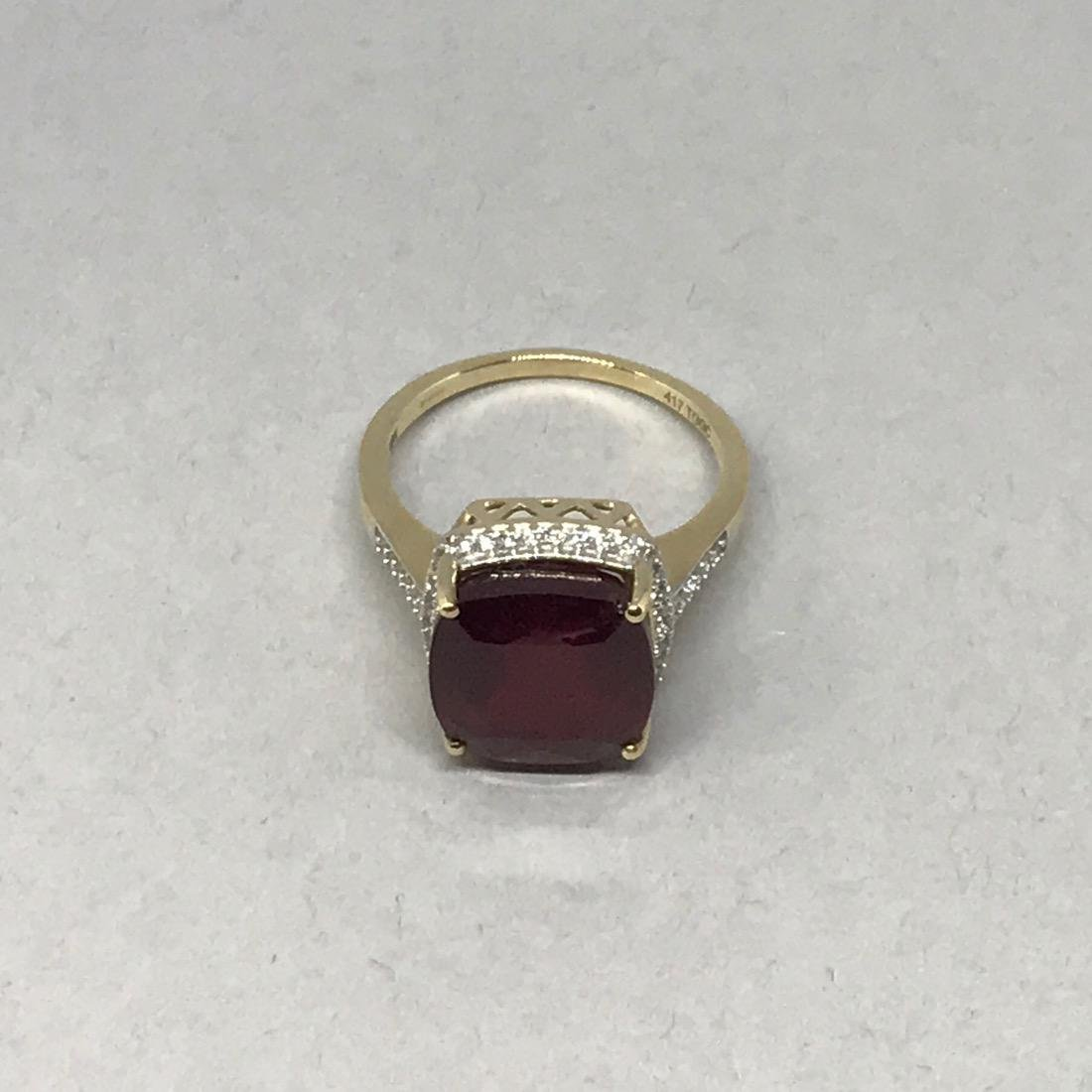 10K Gold Ring with Large - 3