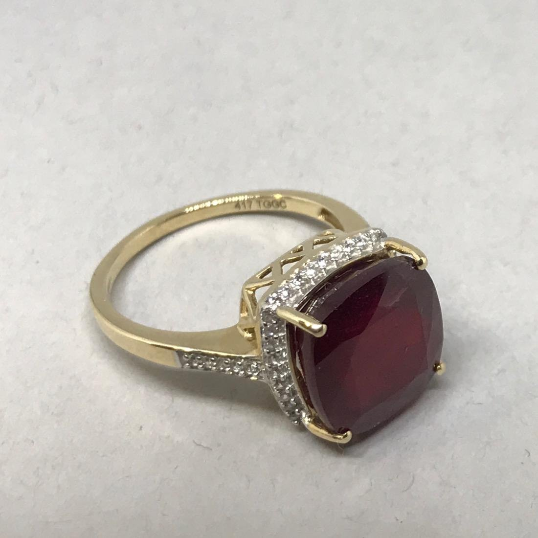 10K Gold Ring with Large - 4