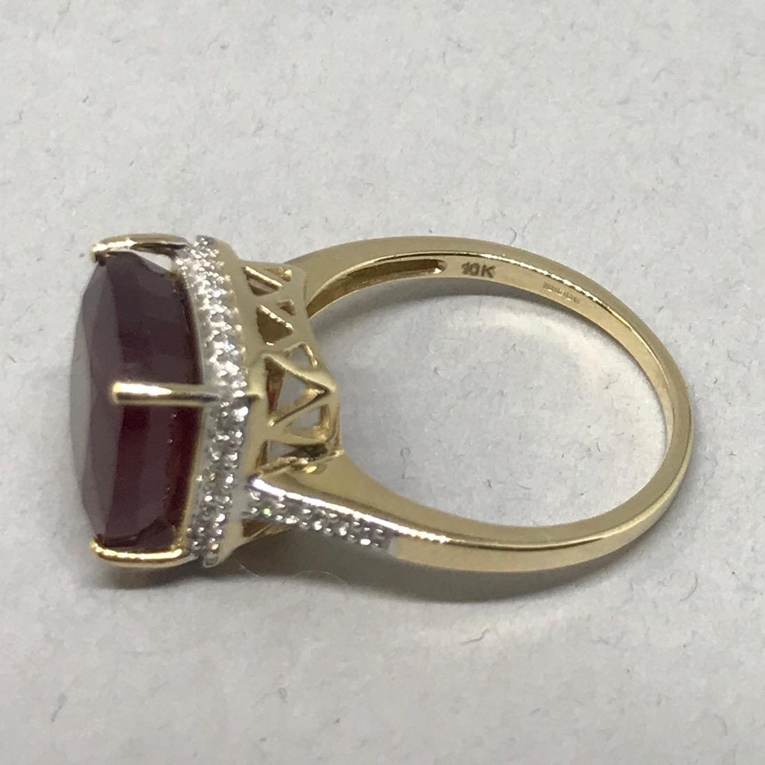 10K Gold Ring with Large - 5