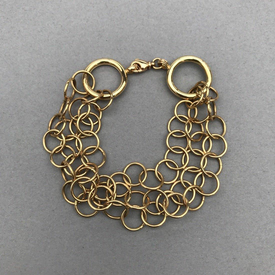 14K Gold 3 Chain Bracelet
