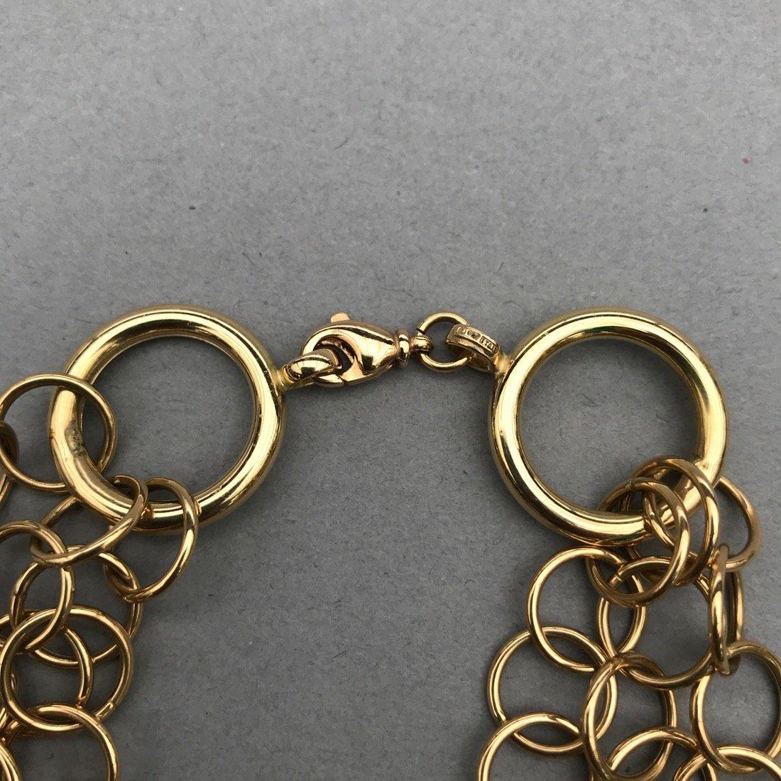 14K Gold 3 Chain Bracelet - 2