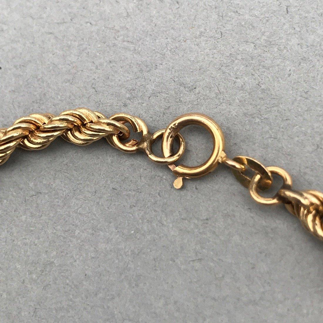 14K Gold Twisted Chain Bracelet - 2