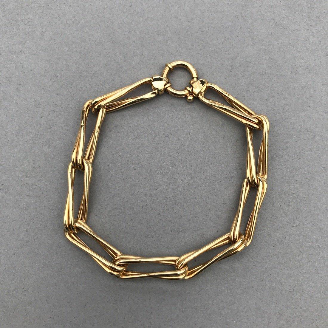 14K Gold Long Link Bracelet