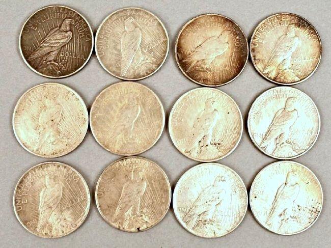 12 Peace Dollars - 2