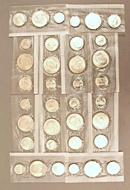 12 Eisenhower Silver Sets