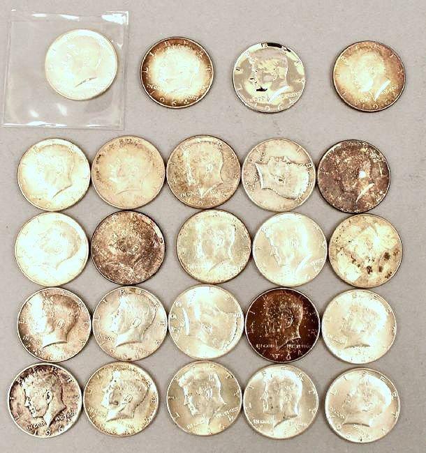 24 1964 Kennedy Half Dollars