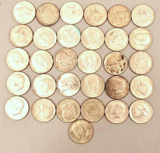 31 1967-70 Half Dollars