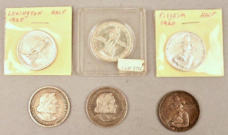6 Commemorative Half Dollars
