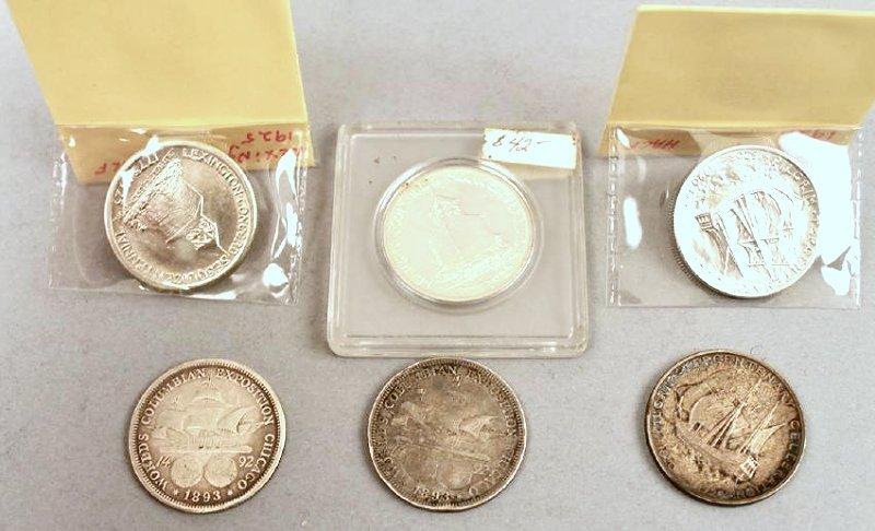 6 Commemorative Half Dollars - 2
