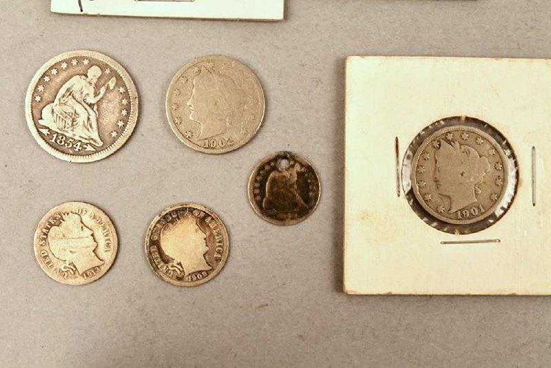 11 Vintage American Coins 1834 Half, 1857 FE - 2