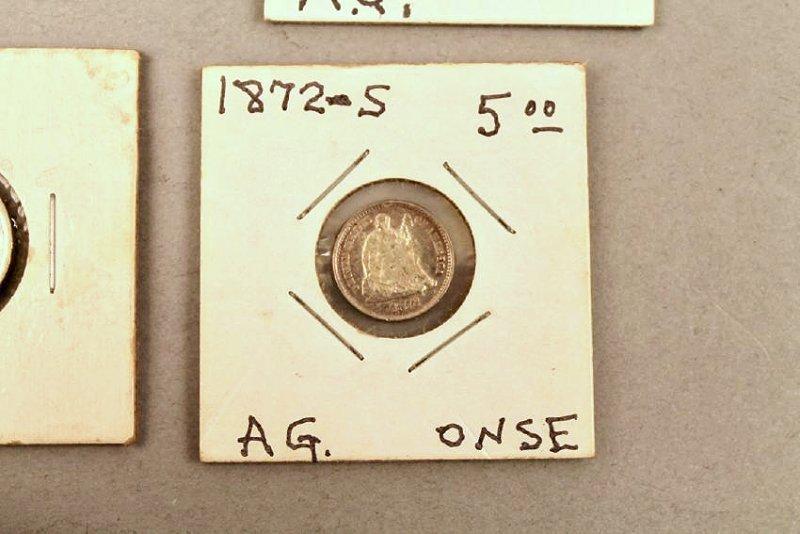 11 Vintage American Coins 1834 Half, 1857 FE - 5