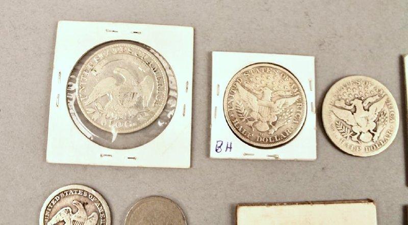 11 Vintage American Coins 1834 Half, 1857 FE - 7