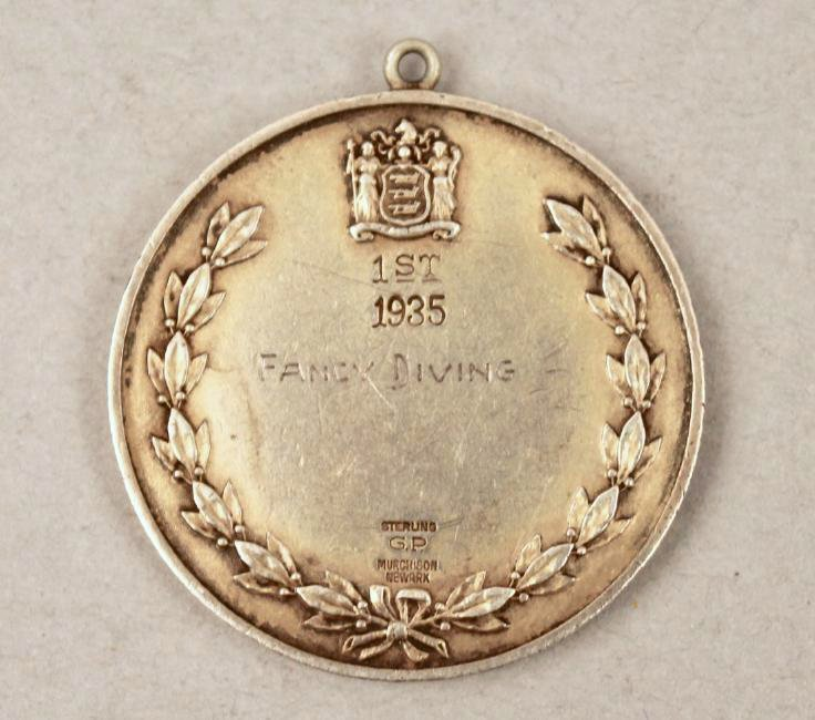 1935 Sterling Diving Medal - 2