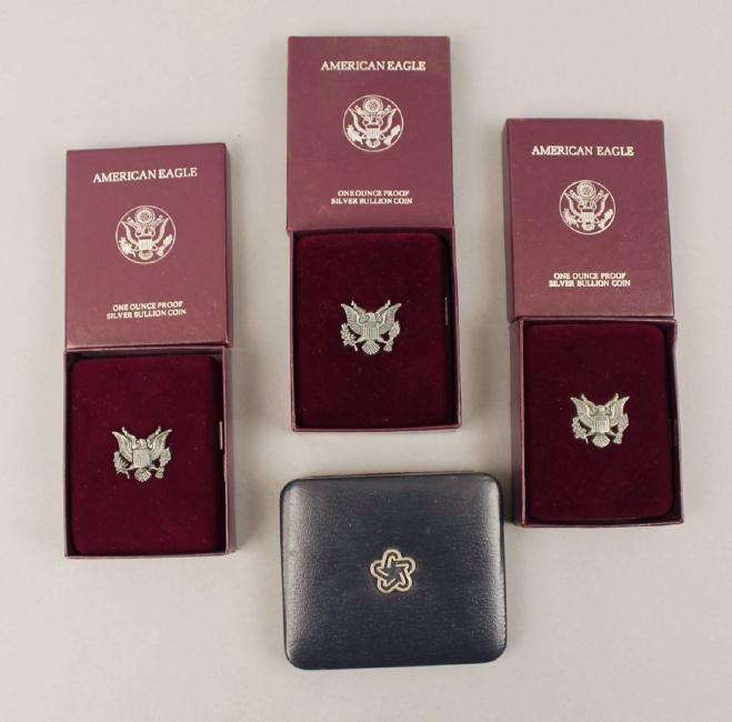 3 Am Eagle & One Silver Am Rev Bicentennial Medal - 2