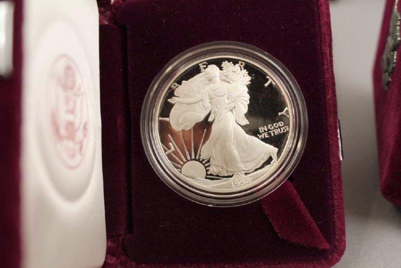3 Am Eagle & One Silver Am Rev Bicentennial Medal - 5