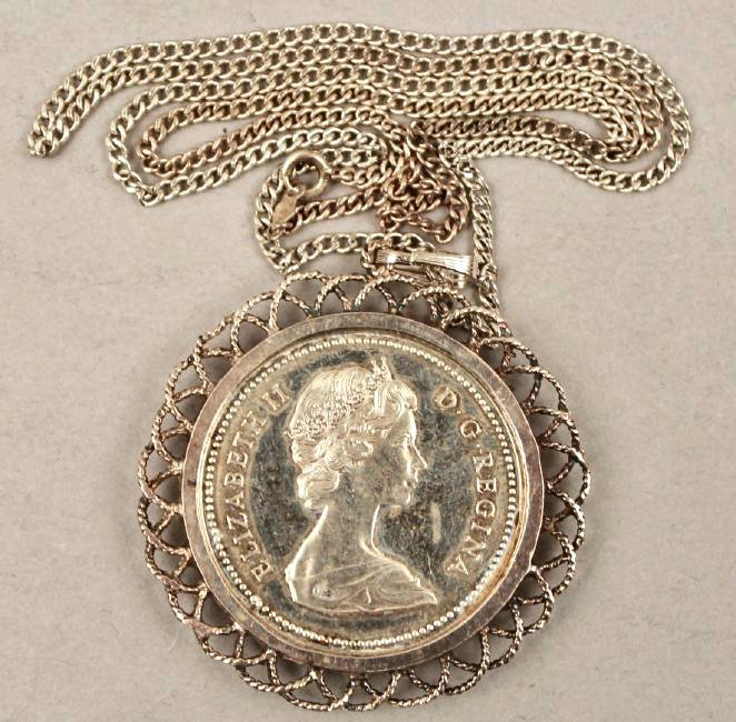 1971 Canadian Silver Dollar Pendant