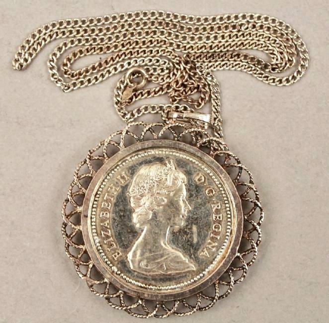 1971 Canadian Silver Dollar Pendant