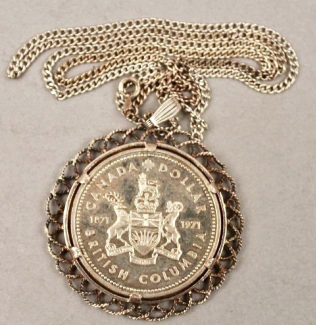 1971 Canadian Silver Dollar Pendant - 2