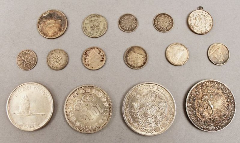 Lot of 15 Silver Foreign Coins - 2