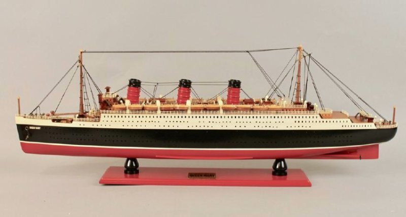 Vintage Model of Queen Mary Cruise Ship