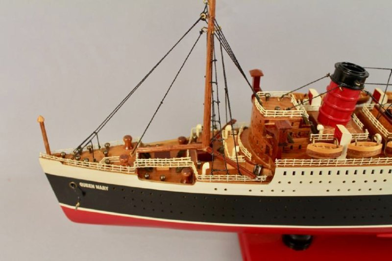 Vintage Model of Queen Mary Cruise Ship - 2