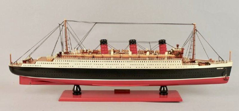 Vintage Model of Queen Mary Cruise Ship - 5