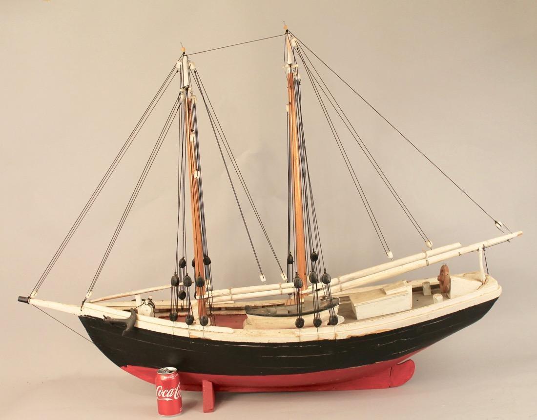 Wooden Boat Model 2 Masted Schooner