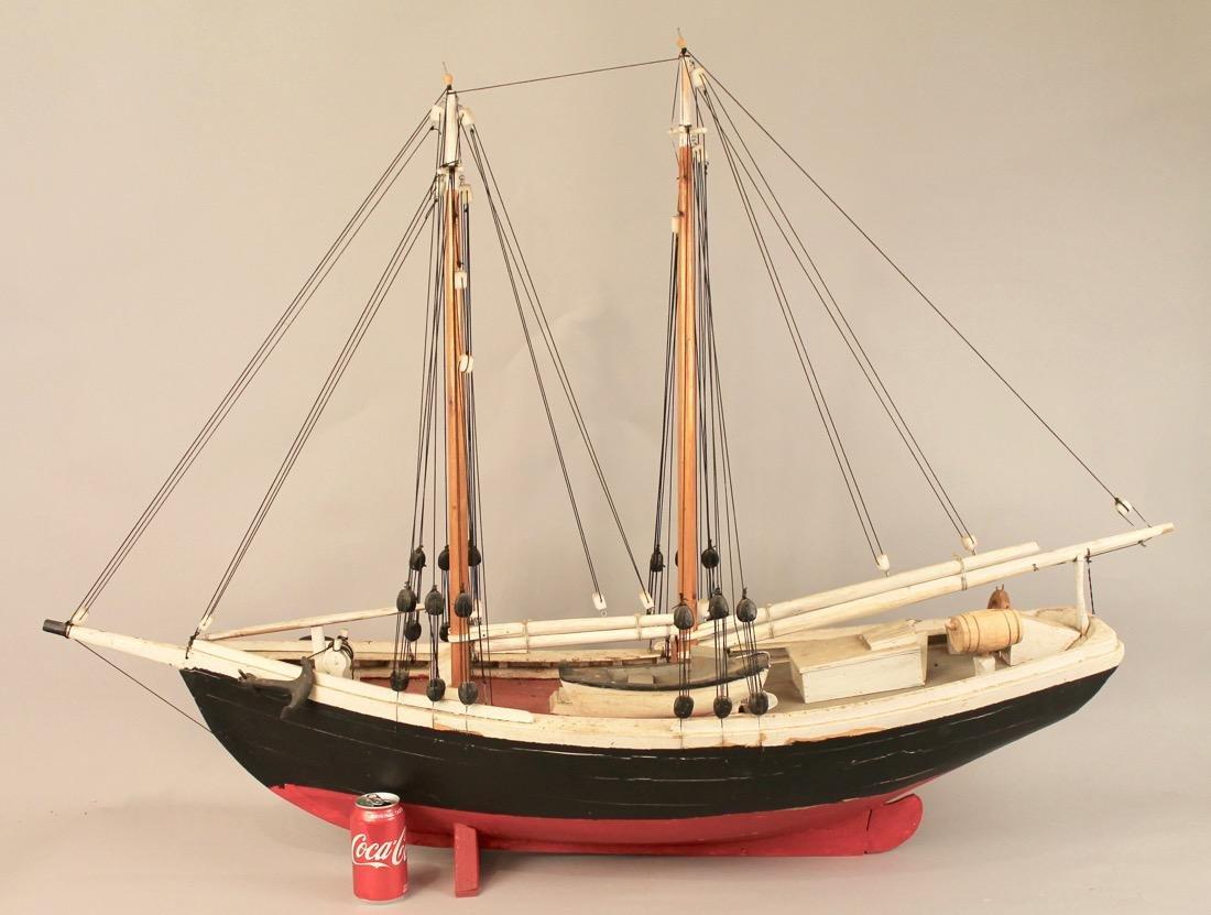 Wooden Boat Model 2 Masted Schooner - 3