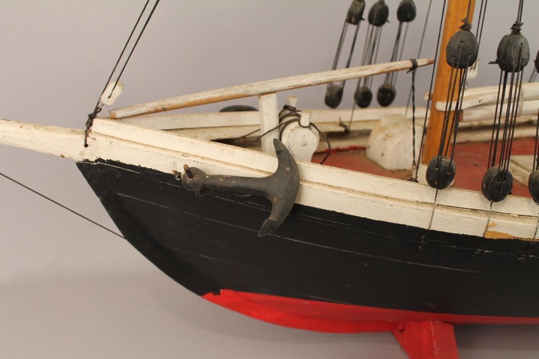 Wooden Boat Model 2 Masted Schooner - 6
