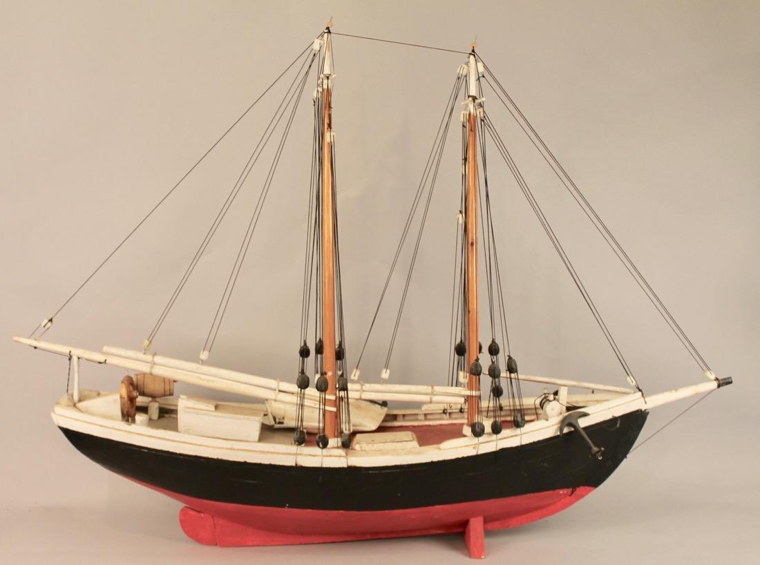 Wooden Boat Model 2 Masted Schooner - 7
