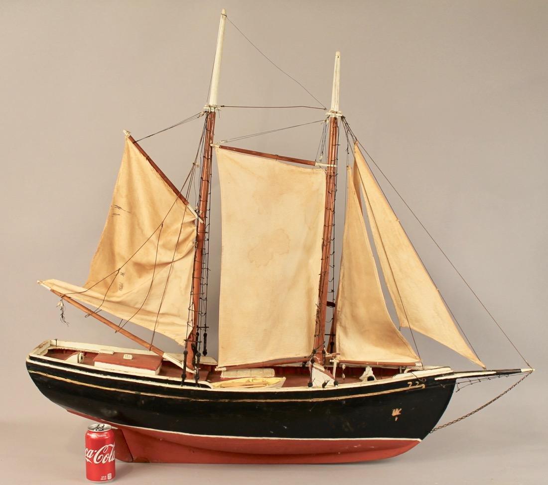 Large Two Masted Schooner Boat Model