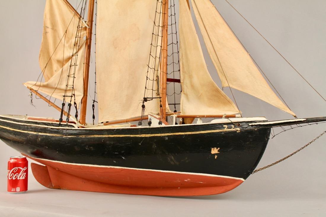 Large Two Masted Schooner Boat Model - 2